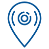 Blue Pin Icon